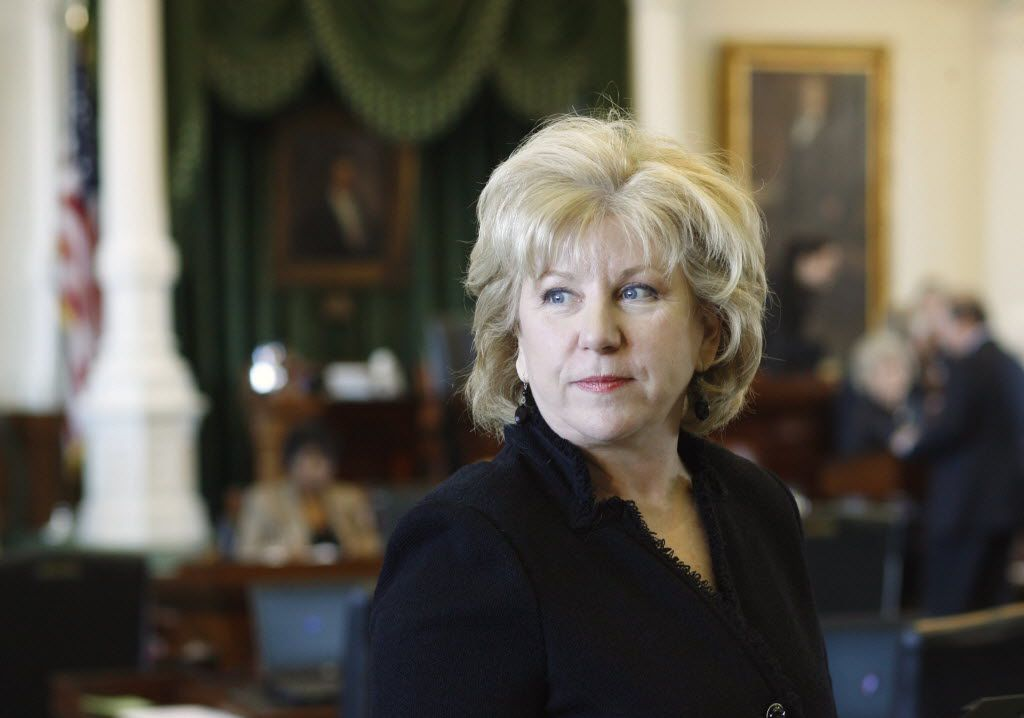 State Sen. Jane Nelson, after nearly three decades in the Senate, will not seek re-election next year, she announced Monday. Nelson, R-Flower Mound, has been the Senate's top budget writer for four sessions.(2009 AP Photo/Harry Cabluck)