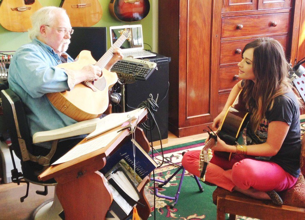 Country music superstar Kacey Musgraves visits her longtime mentor, John DeFoore, in Mineola, Texas, near where Kacey grew up in Golden, Texas. She graduated from Mineola High School.
