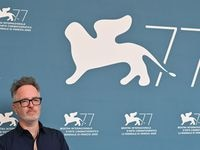 """Run Hide Fight"" director Kyle Rankin poses for a picture earlier this month at the 77th Venice Film Festival."