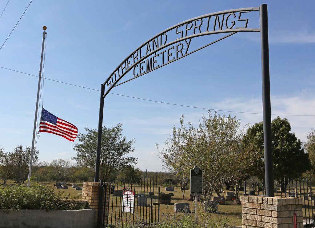 A look at Sutherland Springs Cemetery located off of North FM 539 in Sutherland Springs, Texas. Photographed on Tuesday, November 7, 2017. (Louis DeLuca/The Dallas Morning News)