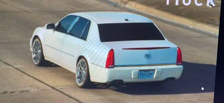 Law enforcement officials issued the Blue Alert for a white four-door Cadillac.