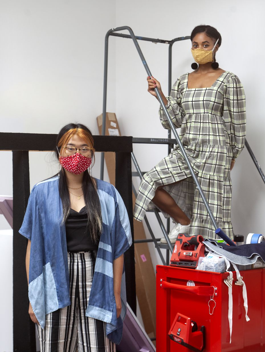 Kimberly Yu (left) and Ari Brielle Edwards, gallery associates at Talley Dunn Gallery, say the fellowships are part of a long-term commitment to artists of color in North Texas.
