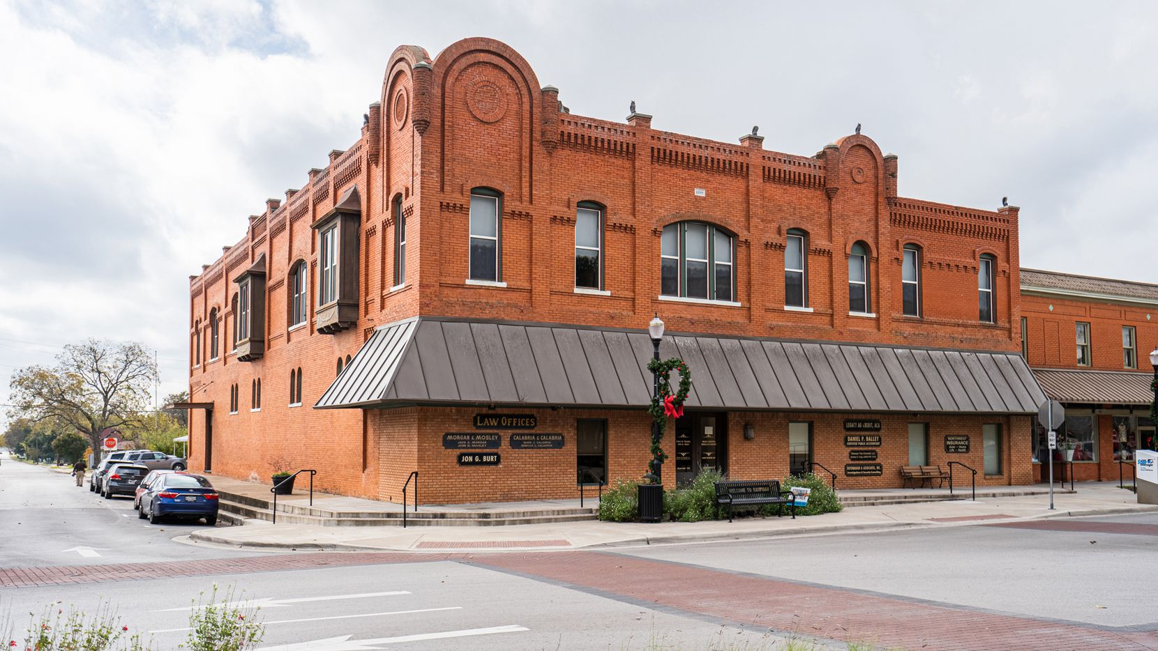 Constructed in 1899, this historic two-story building in Kaufman's Town Square is available for $675,000.