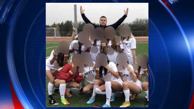 In this image from KDFW-TV (Channel 4), members of the Rockwall-Heath girls soccer team display their middle fingers in a photo taken recently.