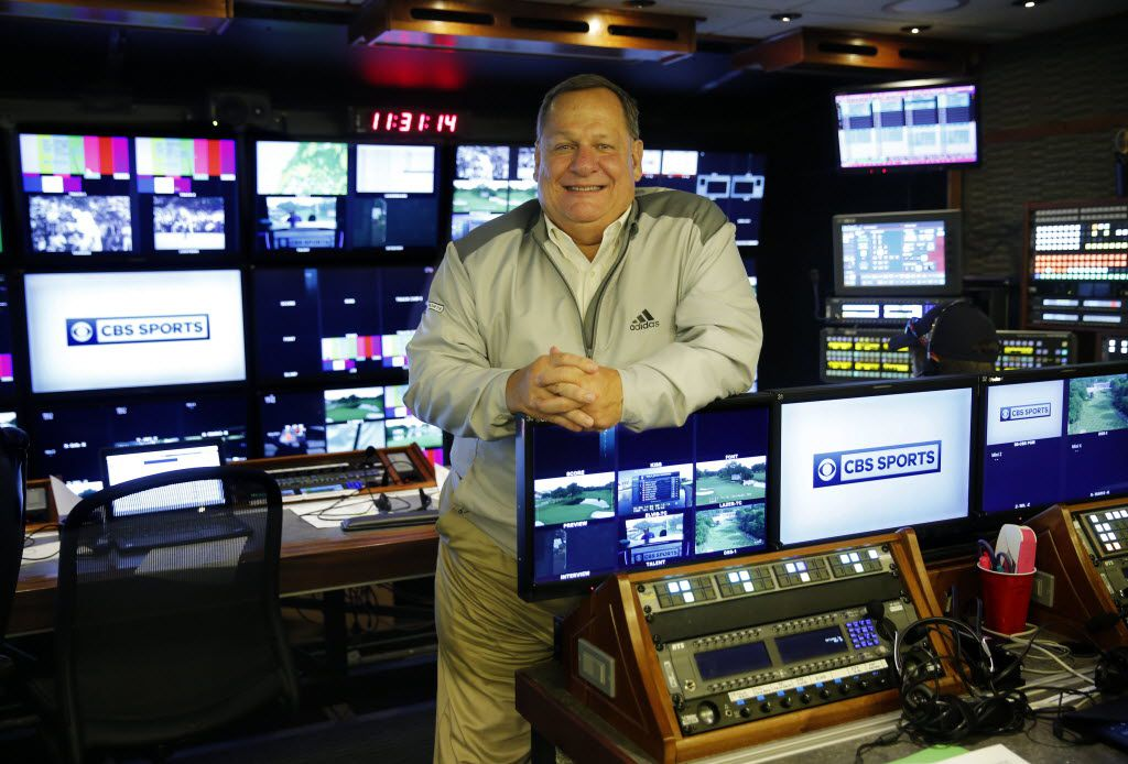 CBS producer Lance Barrow poses for a photo in the production truck during the Dean and Deluca Invitational at the Colonial Country Club in Fort Worth, Friday, May 27, 2016. (Tom Fox/The Dallas Morning News)
