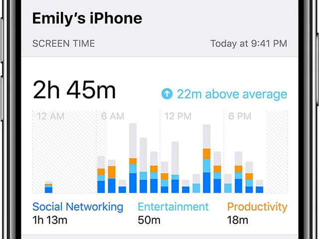 The Screen Time setting in iOS 12 can help you keep track of your phone use.
