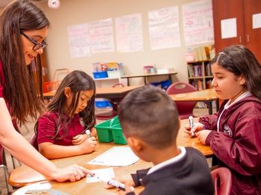 Students in an International Leadership Texas classroom.