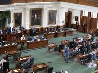 The Texas Senate meets for about an hour and a half during the first called special session on July 8, 2021.