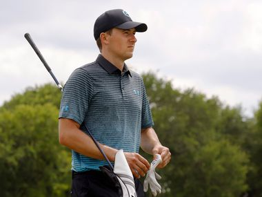 Jordan Spieth makes his way to the tee box for the 13th hole during round 3 of the AT&T Byron Nelson  at TPC Craig Ranch on Saturday, May 15, 2021 in McKinney, Texas.