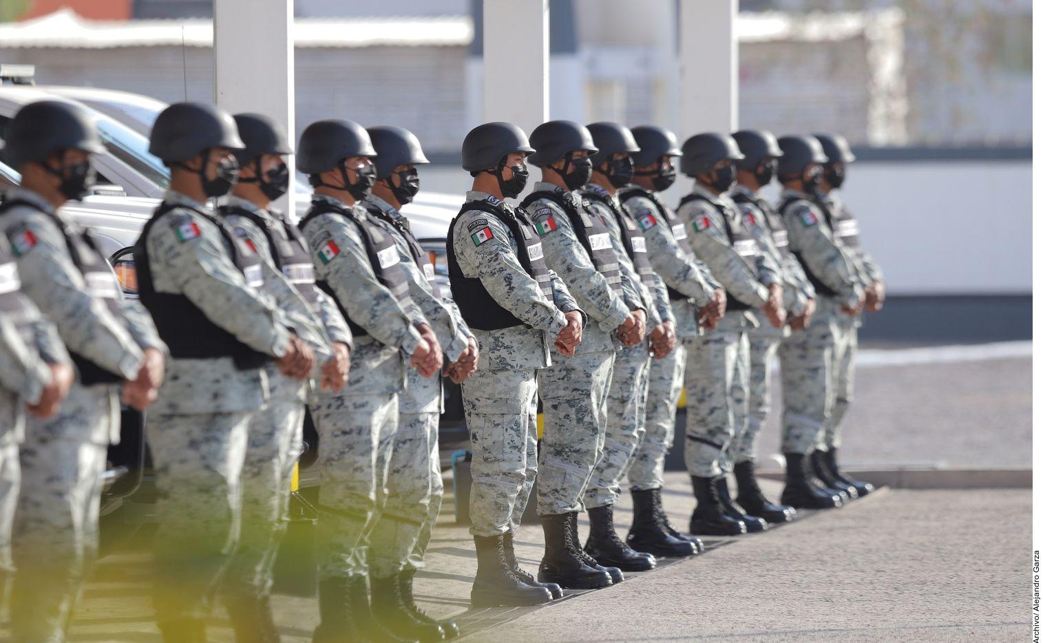 En esta fotografía de archivo se ven elementos de la Guardia Nacional de México en formación.
