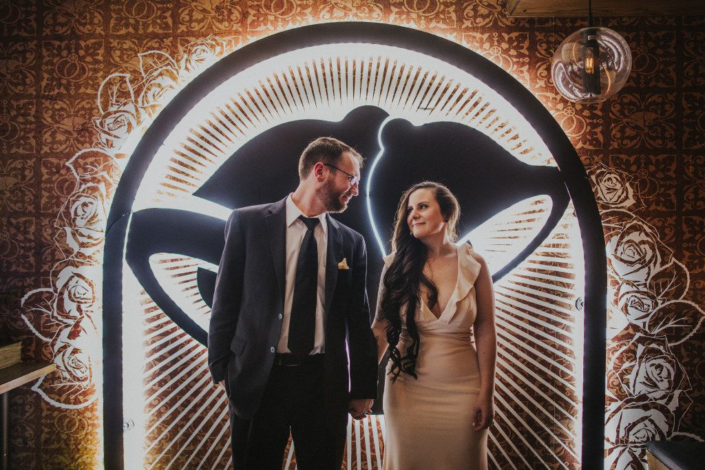 Dan Ryckert and Bianca Monda won the Taco Bell Love and Tacos contest and got married in June 2017 at Taco Bell in Las Vegas.  VEGASJULY