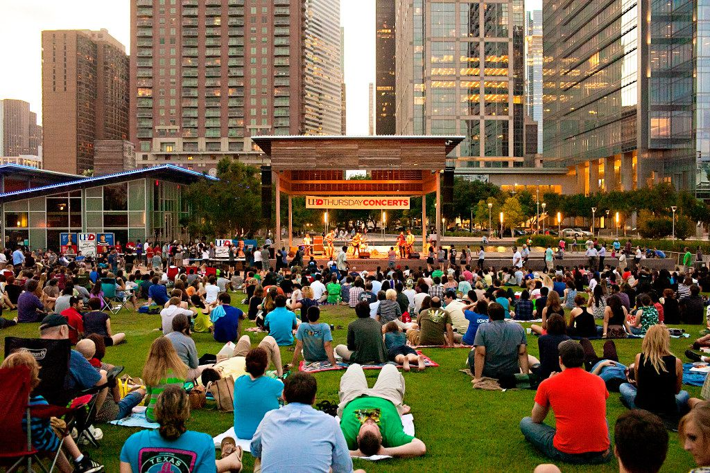 Discovery Green in Houston hosts a lot of outdoor concerts.