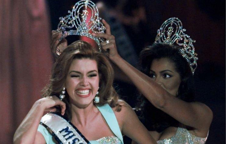 Alicia Machado cuando ganó el concurso de Miss Universo en 1996.