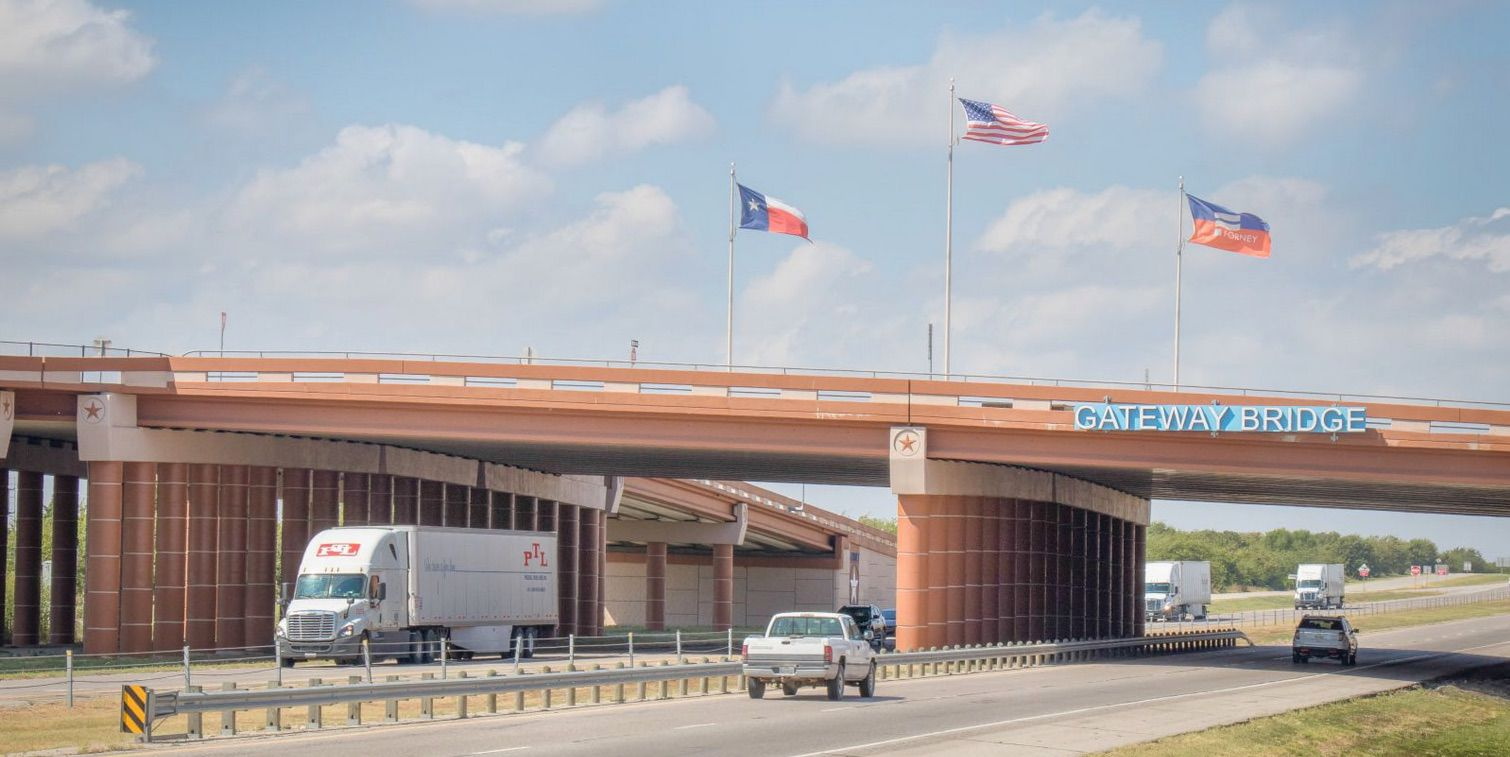 The new shipping hub is planned in the Gateway Development on U.S. Highway 80 in Forney.