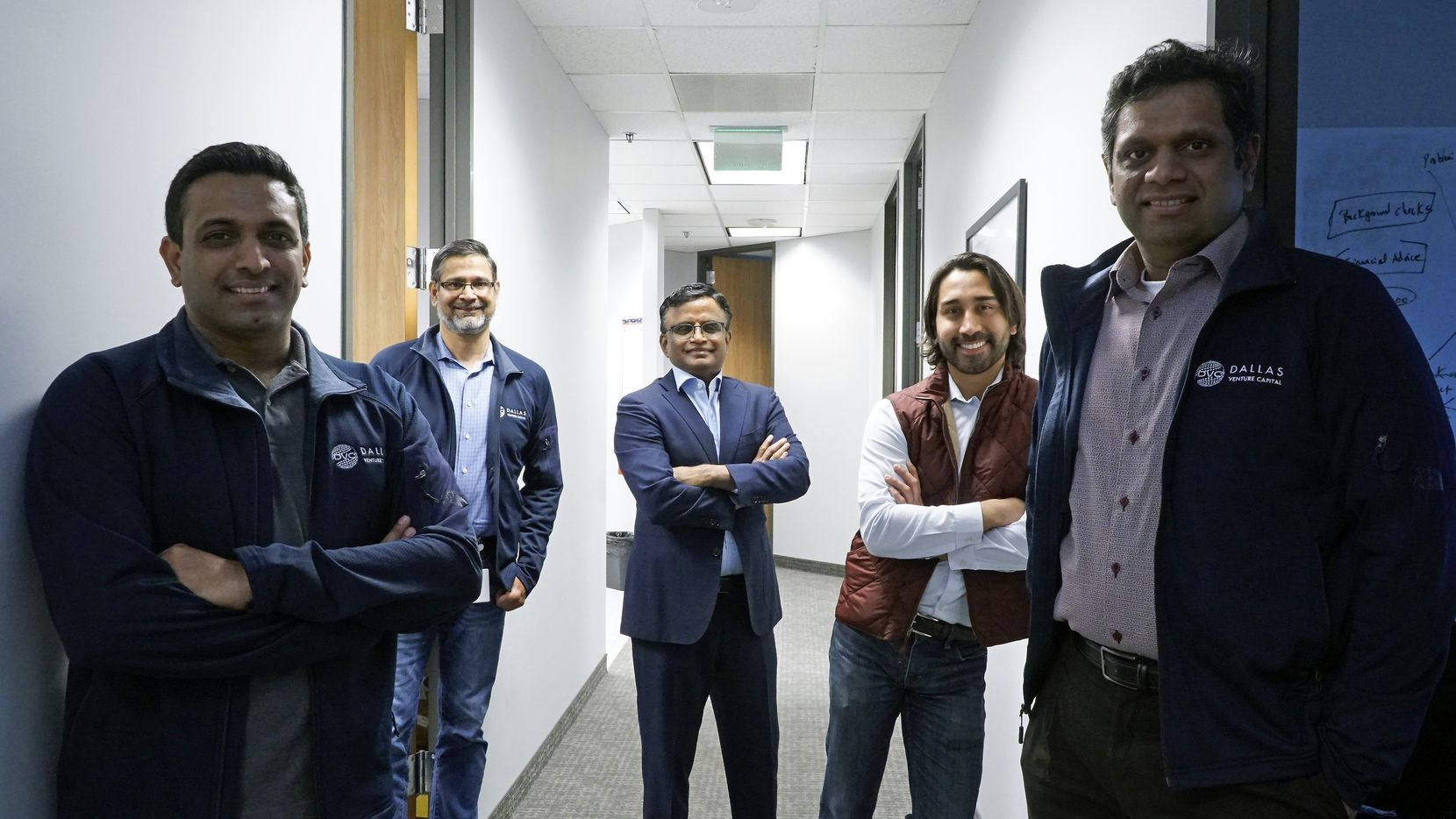 The Dallas Venture Capital team (left to right): Venkat Kolli, Abidali Neemuchwala, Dayakar Puskoor, Manu Sharma and Adhavan Manickam.