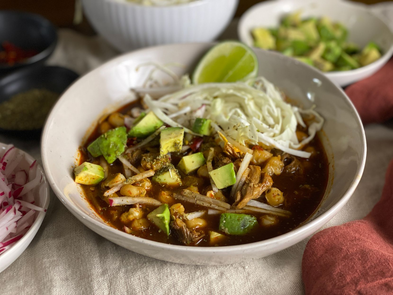 Pozole Rojo from Mely Martinez's 'The Mexican Home Kitchen'