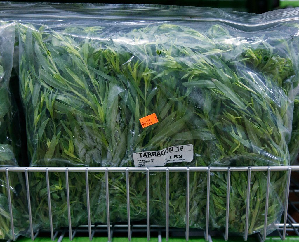 A bag of tarragon sold at Chef's Store in Farmers Branch.