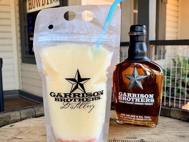 Cocktails to go at the Ranch at Las Colinas include frozen whiskey sour pouches.
