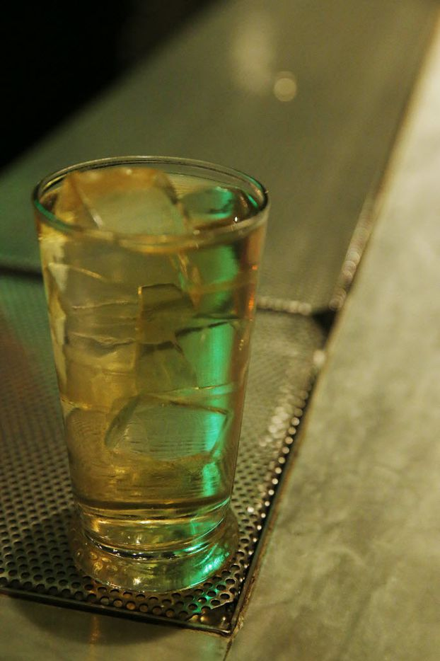 Japanese ritual preparation is followed when the bar serves a Mizuwari Highball: Whiskey is stirred on ice 13 1/2 times,  then soda is added slowly, then it's stirred 3 1/2 times.