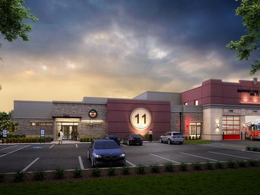 A rendering shows the eleventh McKinney fire station.