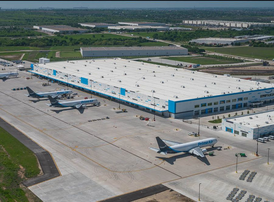 The 1.1 million-square-foot air cargo hub was built in 2019.
