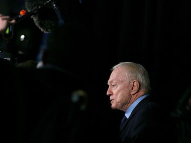 Dallas Cowboys owner and general manager Jerry Jones answers questions from the media after theDallas Cowboys lost to the Philadelphia Eagles 17-9 at Lincoln Financial Field in Philadelphia on Sunday, December 22, 2019. (Vernon Bryant/The Dallas Morning News)