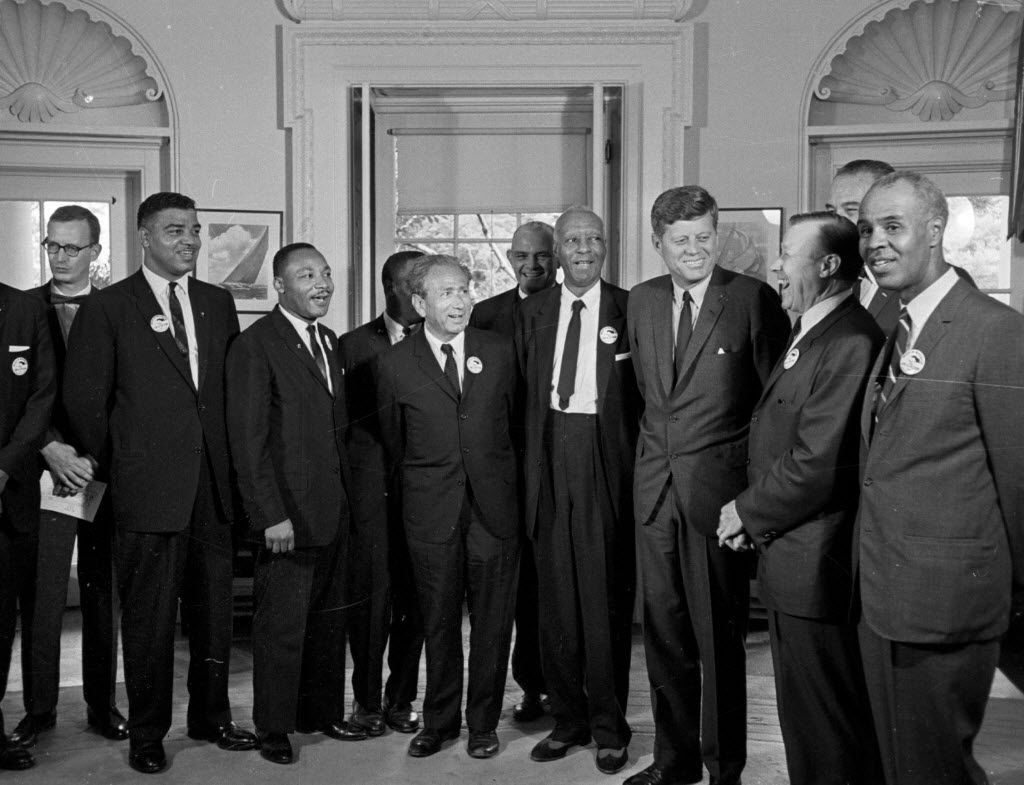 President John F. Kennedy met with leaders of the March on Washington at the White House on Aug. 28, 1963.