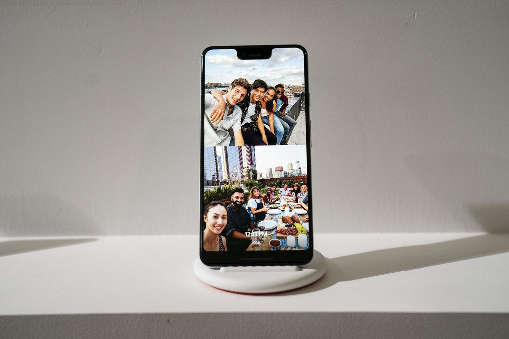 The new Google Pixel 3 XL smartphone is displayed during a Google product release event, October 9, 2018 in New York City. The phones will go on sale on October 18 for a base starting retail price of $799 for the Pixel 3 and $899 for the Pixel 3 XL. Google also released a new tablet called the Pixel Slate and the Google Home Hub.