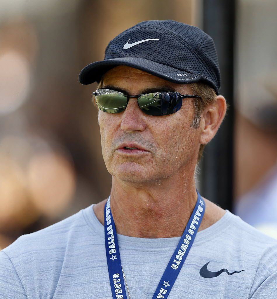 """Former Baylor football coach Art Briles attended Dallas Cowboys afternoon practice at training camp just months after he was fired from the university in May 2016. He told reporters that day that he had never done anything """"illegal, immoral or unethical."""""""