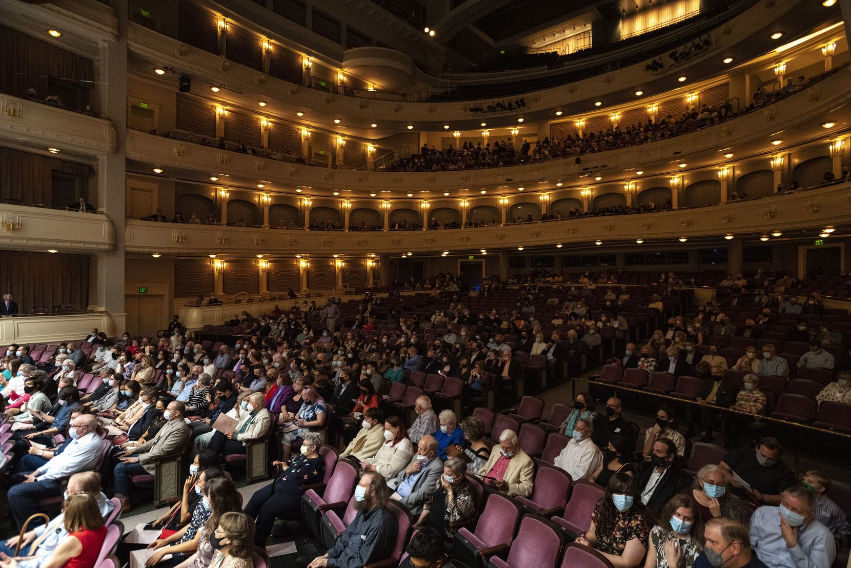 The audience at the Fort Worth Symphony Orchestra concert at the Bass Performance Hall in downtown Fort Worth on September 17th.