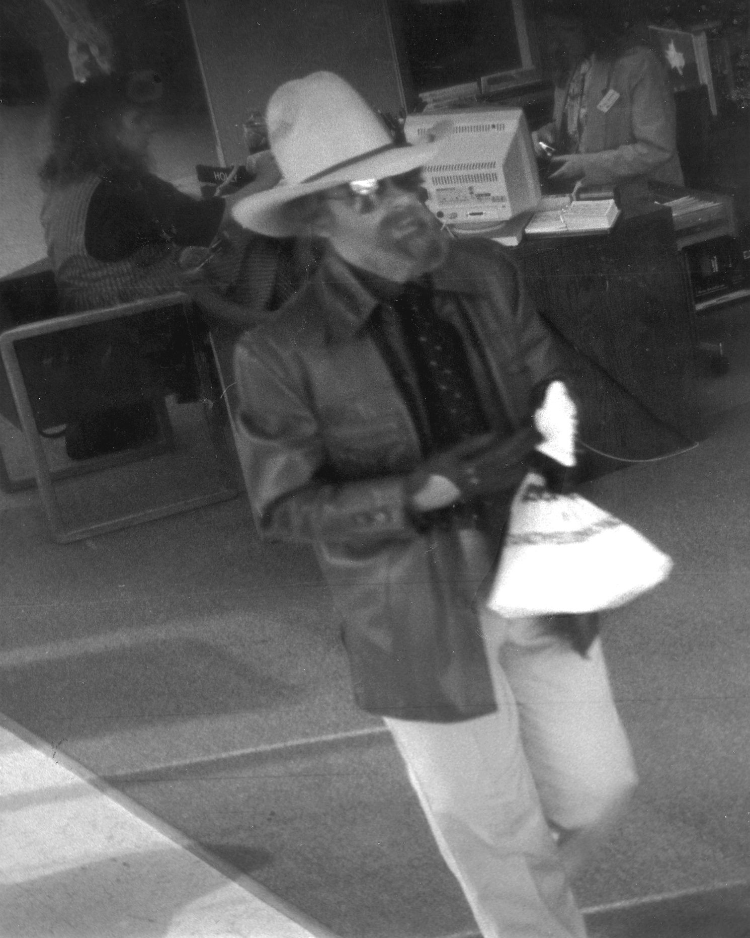 'Cowboy Bob' captured on security footage in 1992.