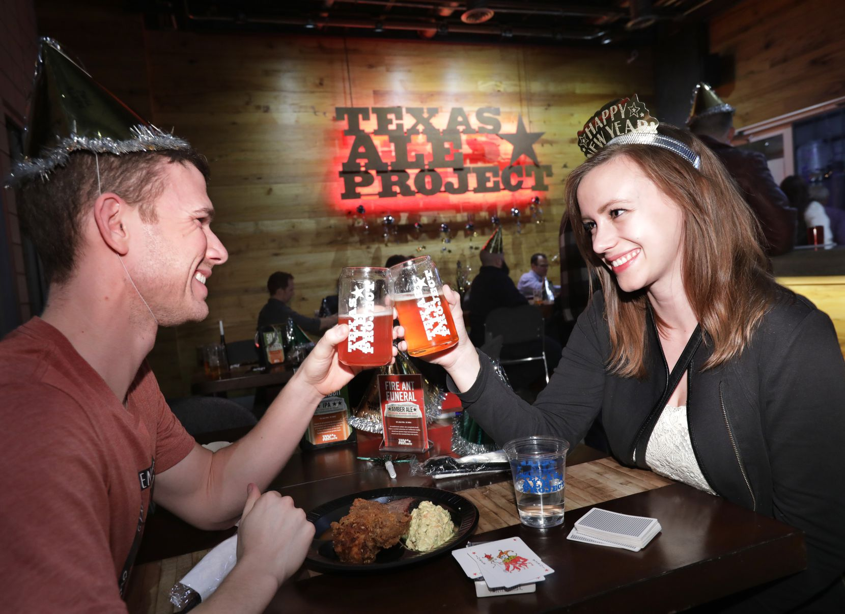 Toast the new year at the Hops and Boots party at Texas Ale Project, which will have a view of the Reunion Tower fireworks.