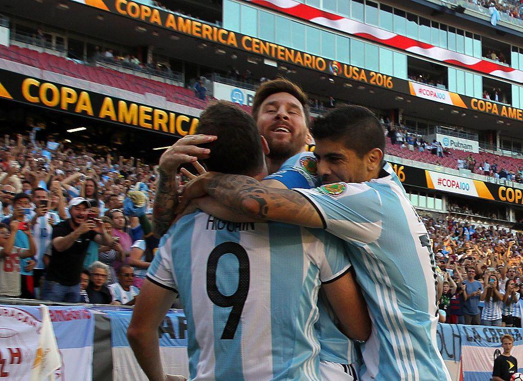 Argentina derrotó 4-1 a la Vinotinto el sábado en Foxborough, Mass. Foto GETTY IMAGES