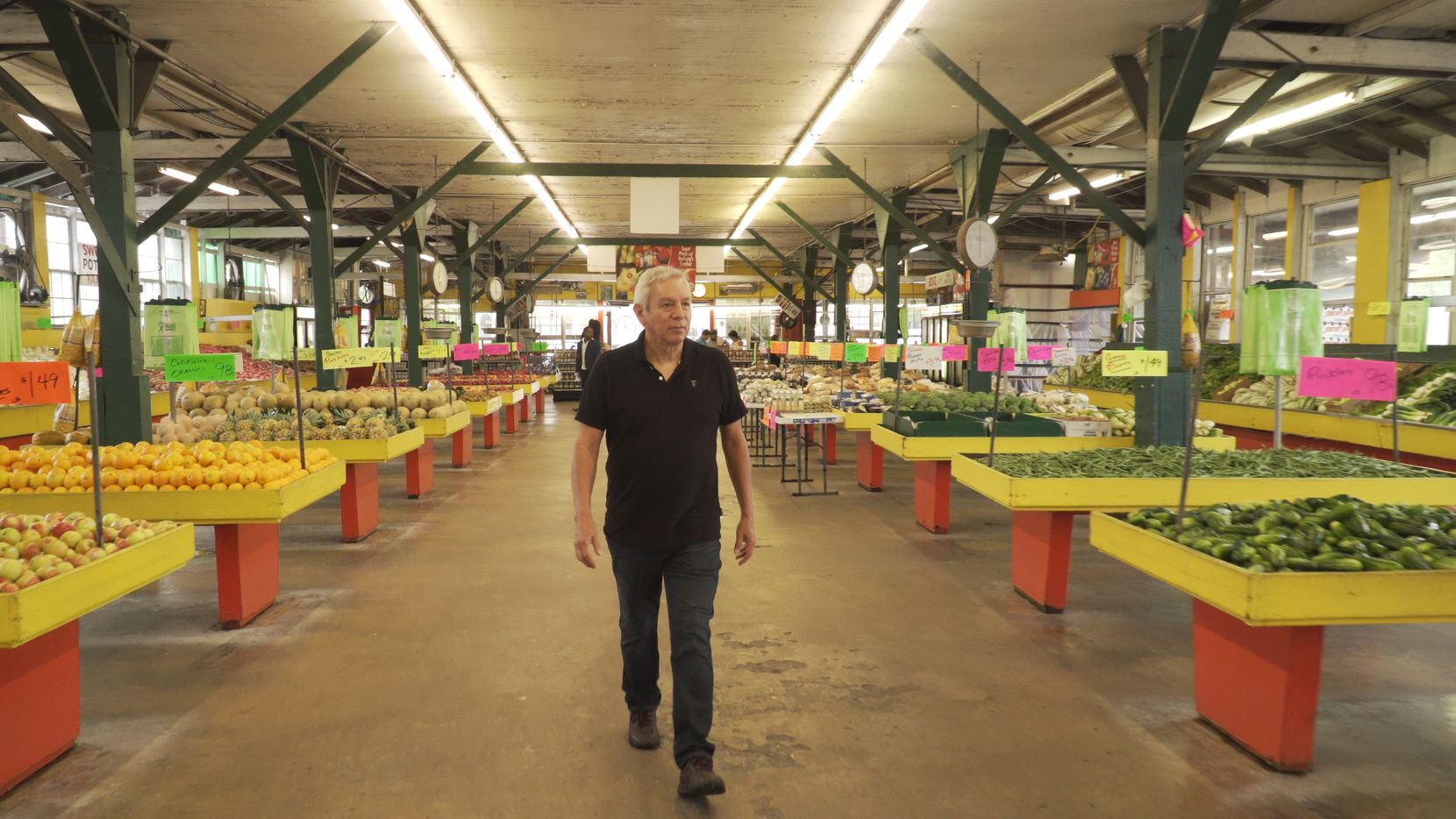 """Food writer and chef Adán Medrano shops at Houston's Airline Farmers Market in the opening scene of the food documentary """"Truly Texas Mexican."""""""