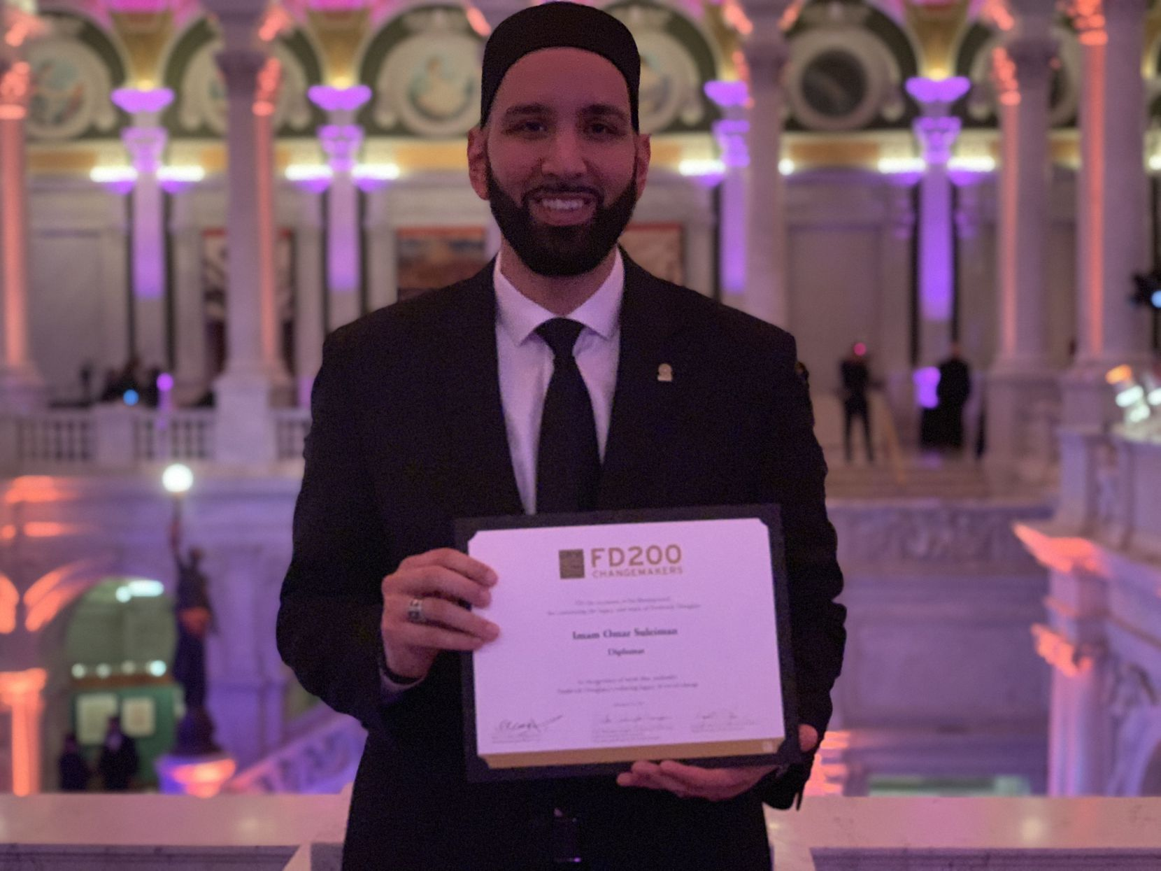 Imam Omar Suleiman is named among 200 activists, celebrities, artists and leaders who continue the work of Frederick Douglass.