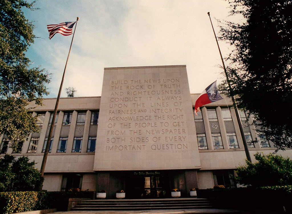The Dallas Morning News plans to leave its longtime home at 508 Young St. next year and move across downtown to the old Statler Library. (File Photo)