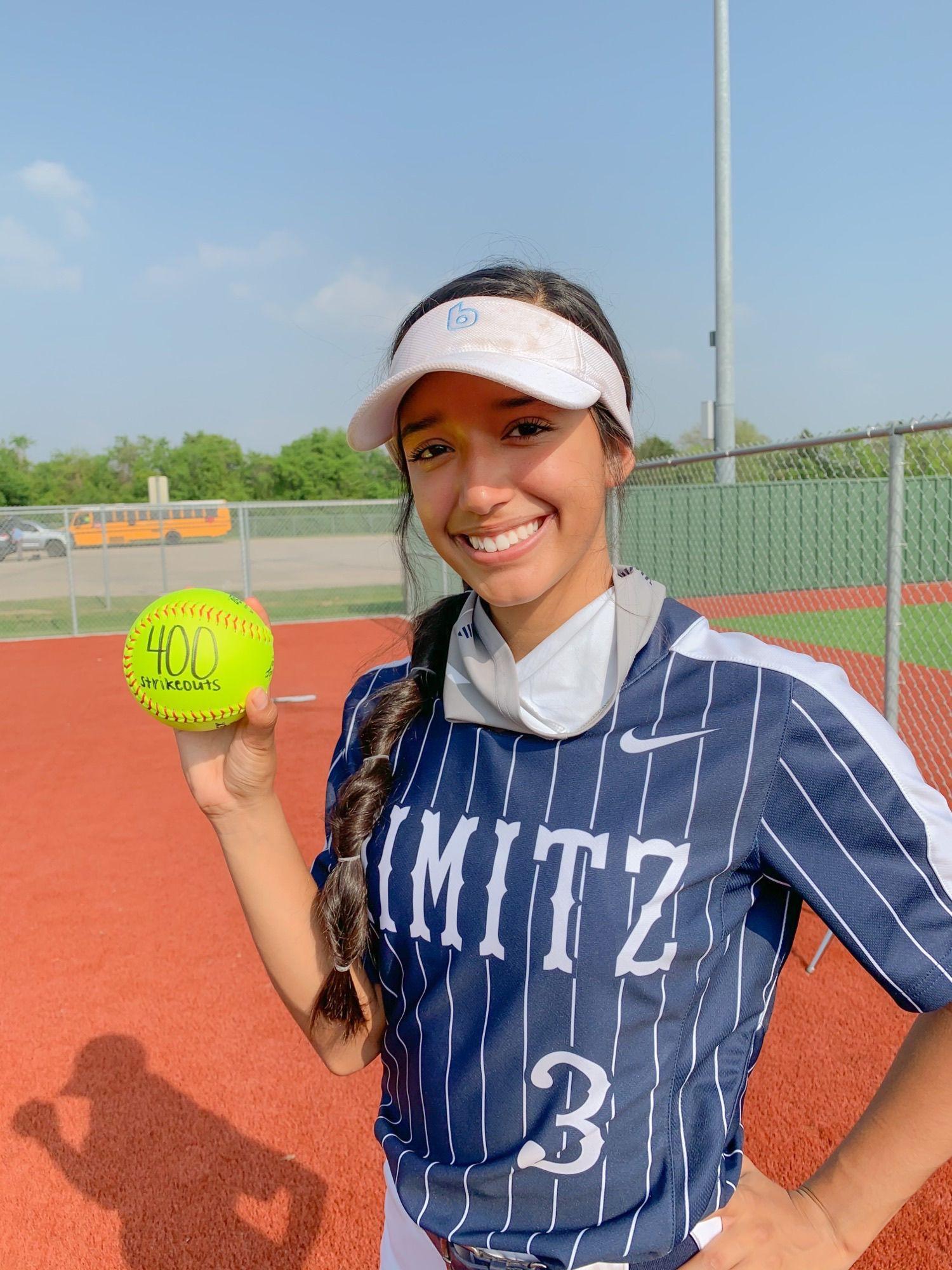 April 25, 2021, Softball Player of the Week: Irving Nimitz's Karina Rodriguez