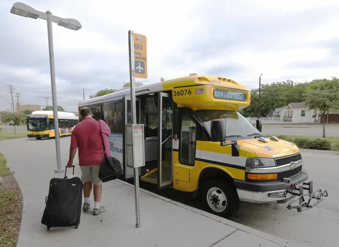 Travelers at Dallas Love Field will see more nonstop trips come Monday, but getting to your flight on DART isn't one of them: The airport doesn't have its own light-rail station, meaning passengers like Brian Nipper of Asheville, N.C., have to transfer to a shuttle bus from the Green Line's Inwood/Love Field Station.