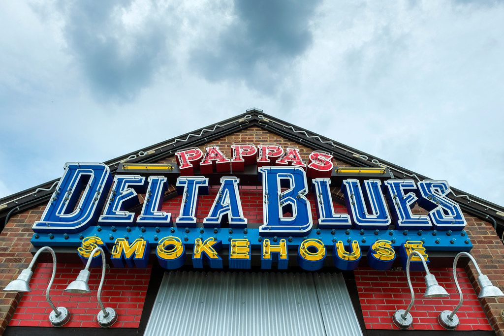 Exterior view of Pappas Delta Blues Smokehouse on Friday, Sept. 13, 2019, in Plano. (Smiley N. Pool/The Dallas Morning News)