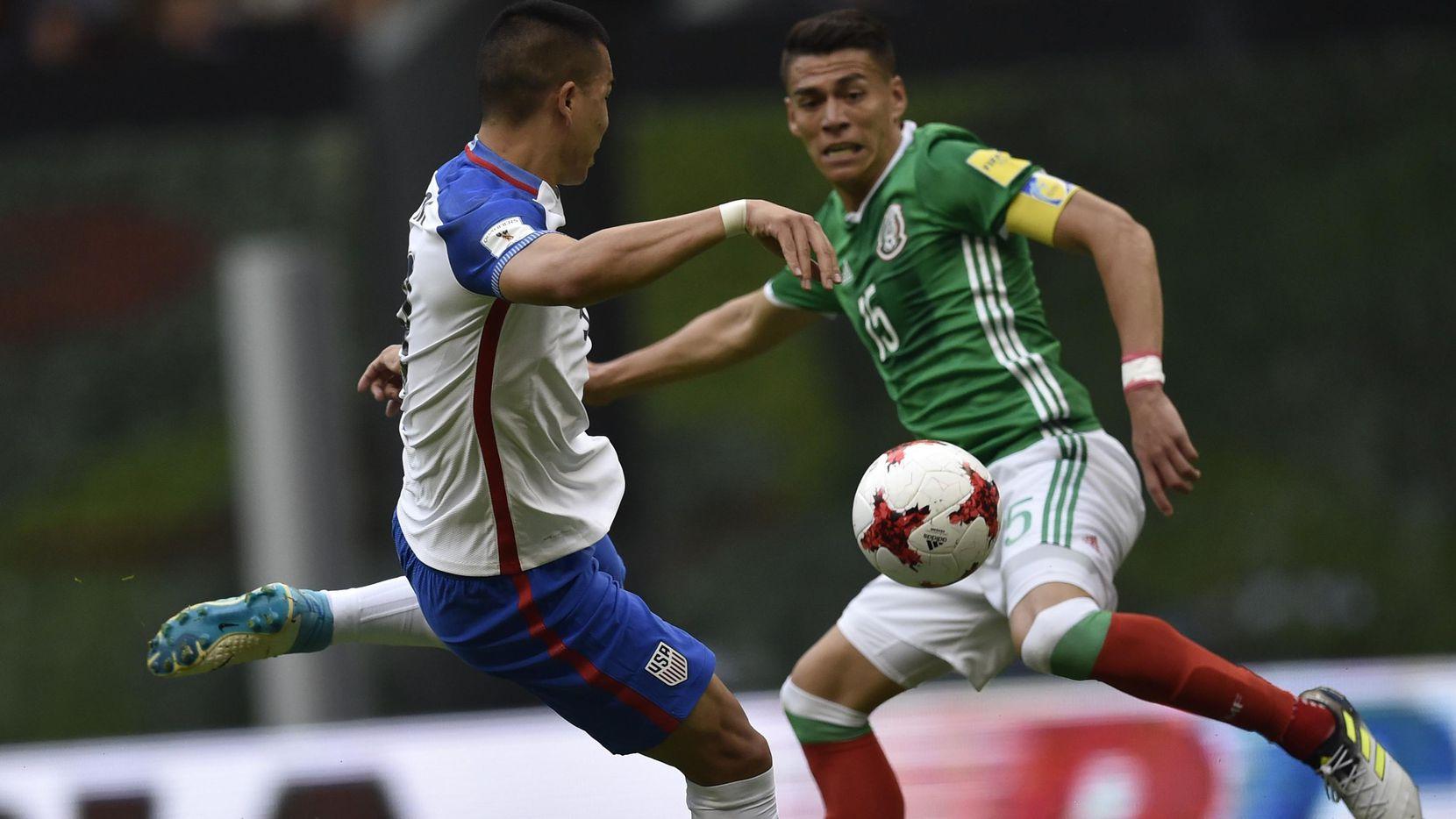 Héctor Moreno y la selección mexicana enfrentan a Portugal en su debut en la Copa Confederaciones 2017 en Rusia. (AFP /Getty Images/PEDRO PARDO)