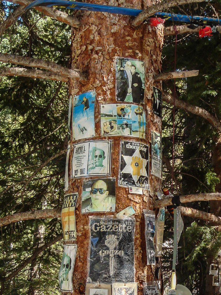 Hunter S. Thompson shrine, Aspen Snowmass Ski Area, Snowmass Village, Colorado.