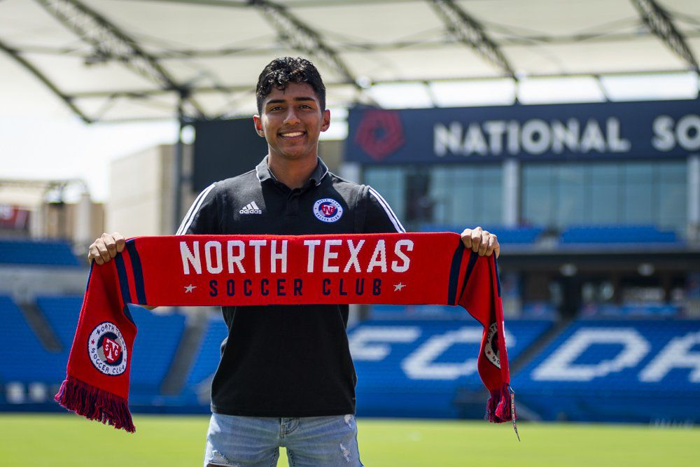 Imanol Almaguer of the FC Dallas U19 Academy side signs with North Texas SC. (8/7/19)