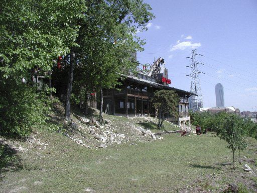 Baby Doe's Matchless Mine Restaurant in 2006, the year it was demolished.