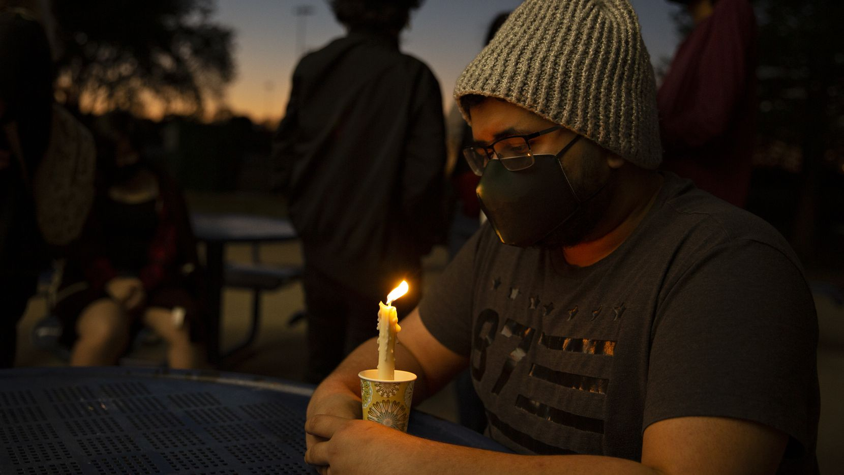 A candlelight vigil for an Allen family of six who died in a murder-suicide tragedy attracted many young people to  Celebration Park in the Collin County city April 7.