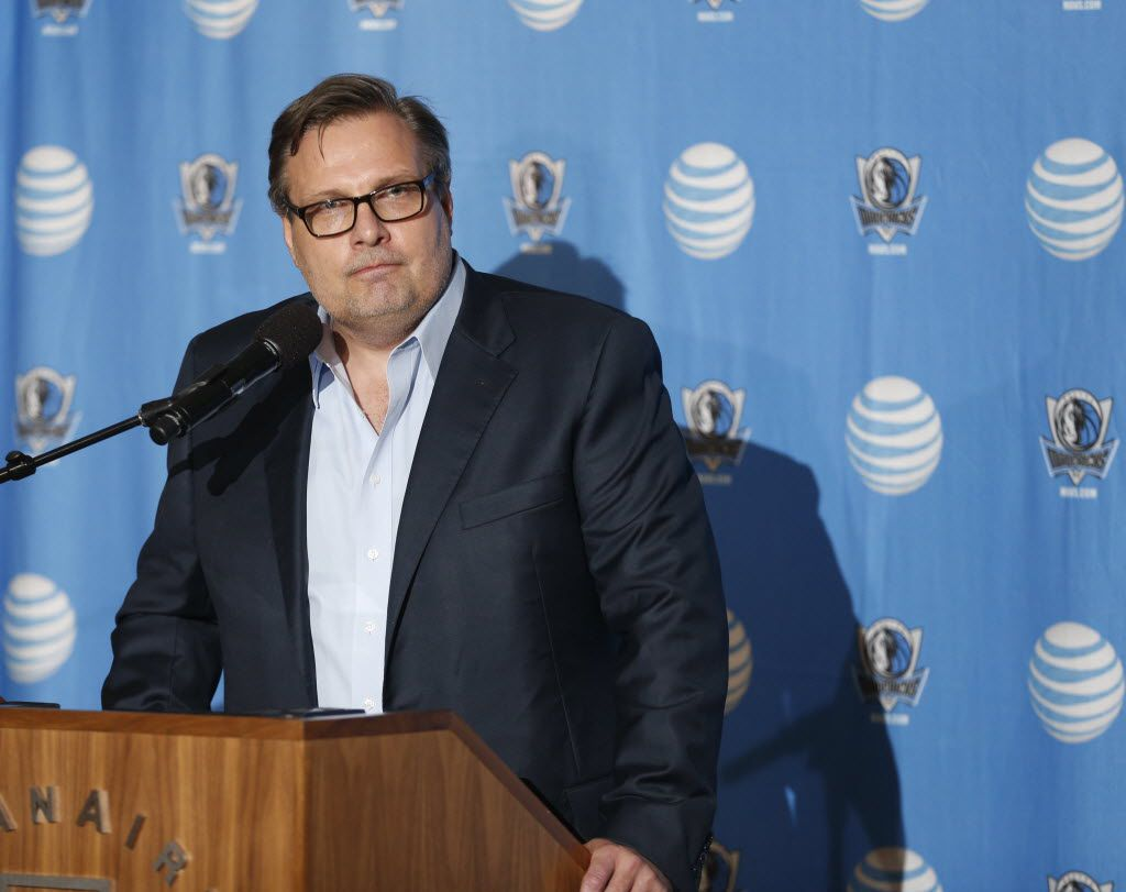 President of Basketball Operations Donnie Nelson speaks to the press prior to the Dallas Mavericks Draft Party at the American Airlines Center in Dallas, Texas on Thursday, June 25, 2015.  Michael Ainsworth/The Dallas Morning News)