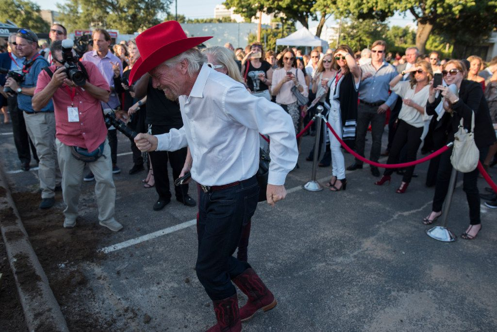 Richard Branson dances to country music after the ground breaking for his Virgin Hotel in the Design District on Monday, Oct. 17, 2016   (Rex C. Curry/Special Contributor)