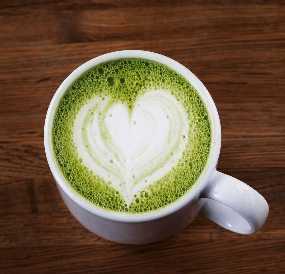 A cup of Matcha Latte at Local Press + Brew in Dallas on Monday, September 25, 2017. (David Woo/The Dallas Morning News)