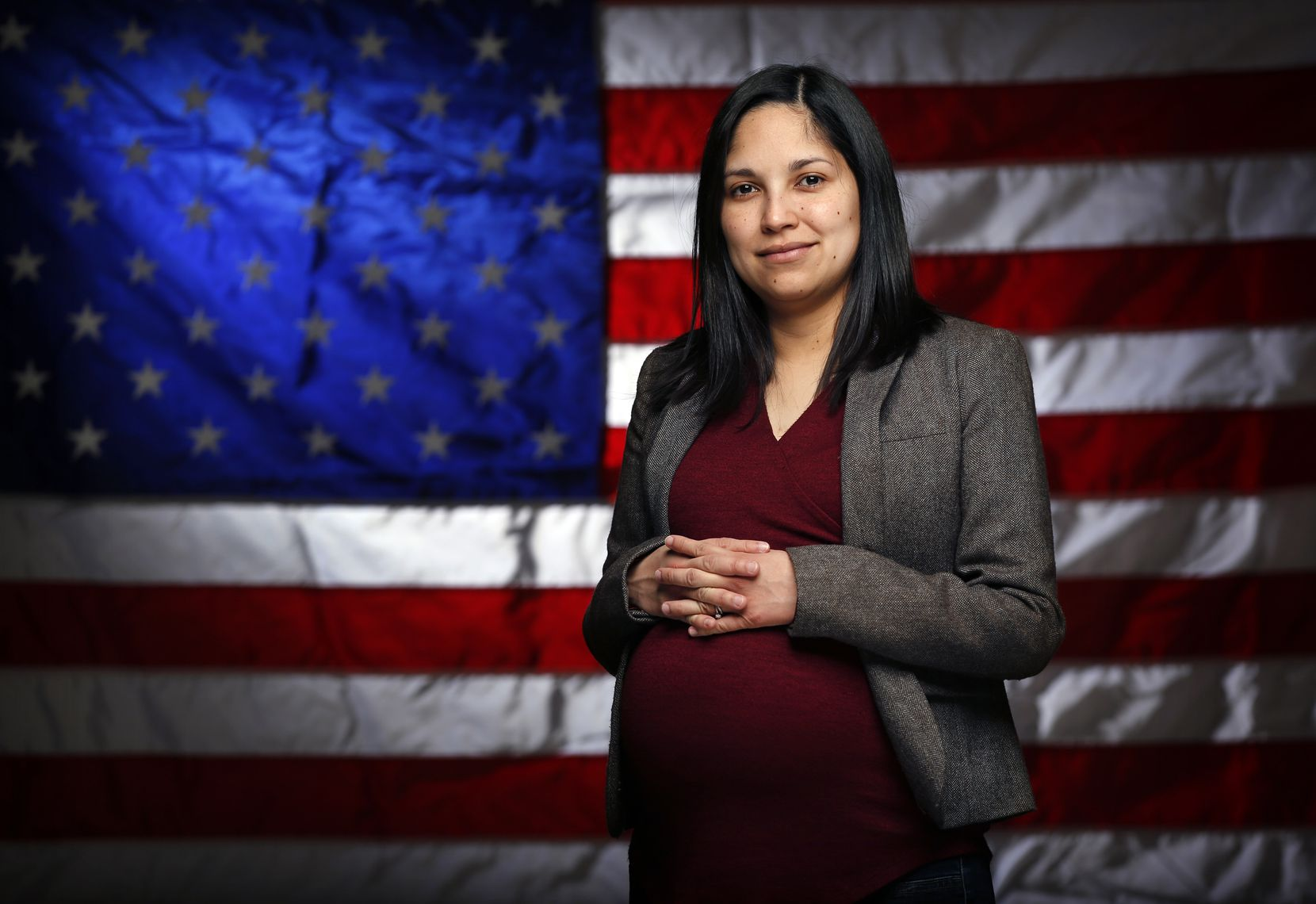Dallas Morning News writer Julieta Chiquillo is one of the people whose name showed up on a list of people who the Texas Secretary of State says may not have been eligible to vote. Problem is, Juli has been eligible to vote since she became a naturalized U.S. citizen. She is photographed in the studio, Thursday, January 31, 2019. (Tom Fox/The Dallas Morning News)