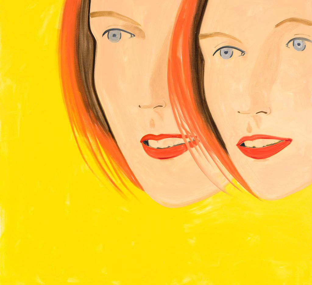 Alex Katz's Emma 3, a 2017 oil-on-linen piece, is part of his exhibition at the Dallas Museum of Art.