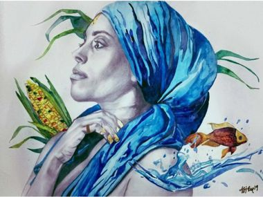 Artwork by Afi Ese will be on display at the Irving Arts Center throughout February and March as part of Black History Month.